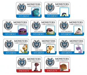 Monsters-university-all-new-student-faculty-id-cards