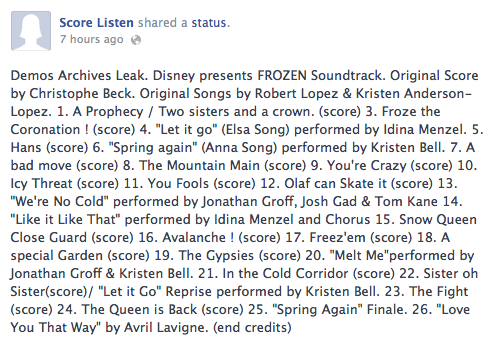 frozen-soundtrack-track-list-leaked