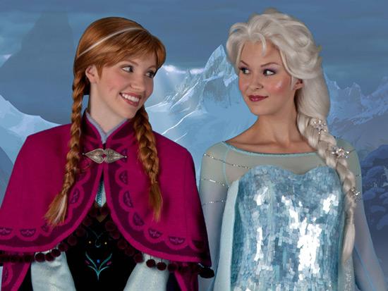 meet anna and elsa from frozen in fantasyland disney