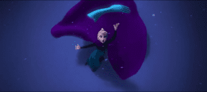 let it go elsa throw glove