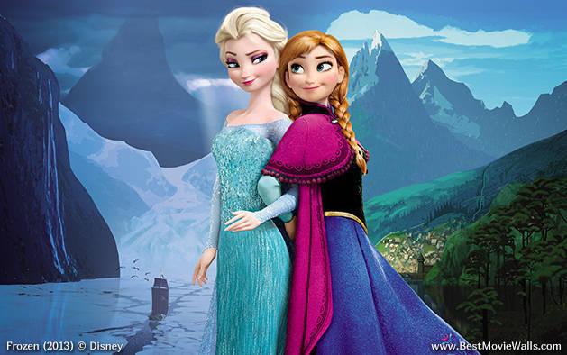 BestMovieWalls Frozen 01 Best Movie Walls Anna Elsa