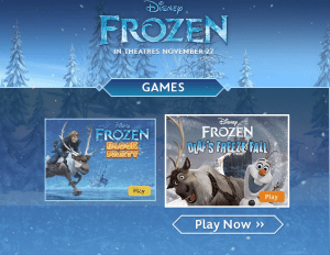 Frozen-games-website