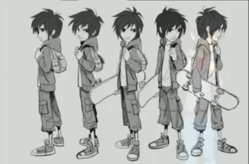Big Hero 6 Anime Characters : New big hero concept art from the zbrush summit