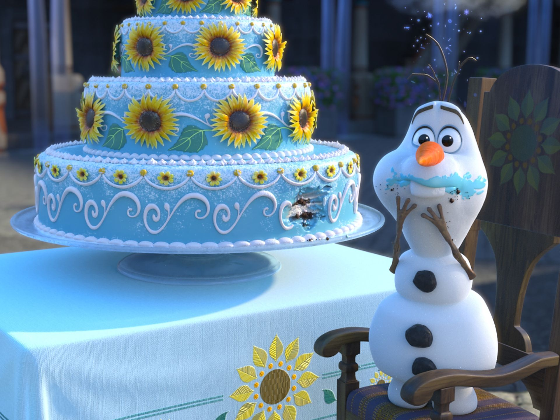 Cake Elsa Frozen Fever : [REVIEW]  Frozen Fever , a Toe-Tappable, Fan-Geared Romp ...