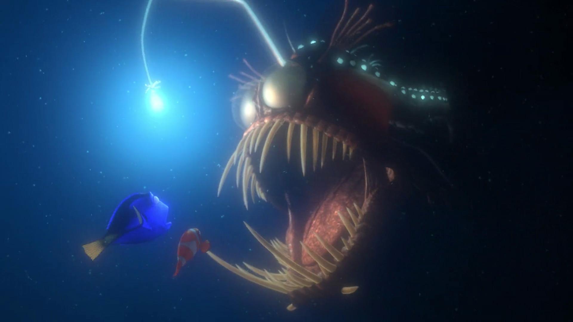 Pixar rewind 39 finding nemo 39 rotoscopers for Finding nemo angler fish