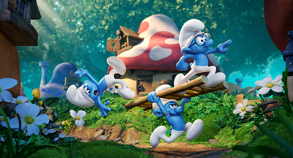 Sony 39 s fully animated 39 smurfs 39 movie gets a new title teaser image and expanded cast rotoscopers - Hefty smurf the lost village ...