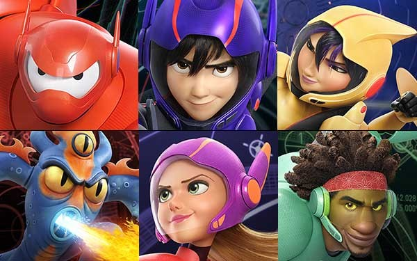 Big Hero 6 Cartoon Characters Names : Top animated superhero properties rotoscopers
