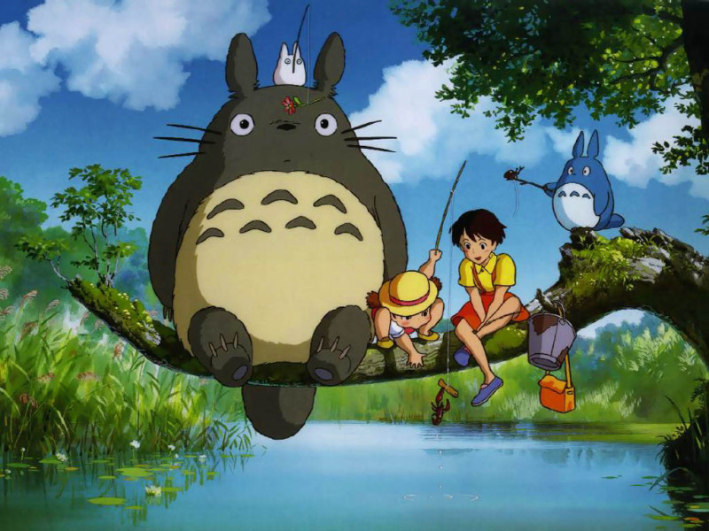 Movie still from Studio Ghibli's My Neighbor Totoro