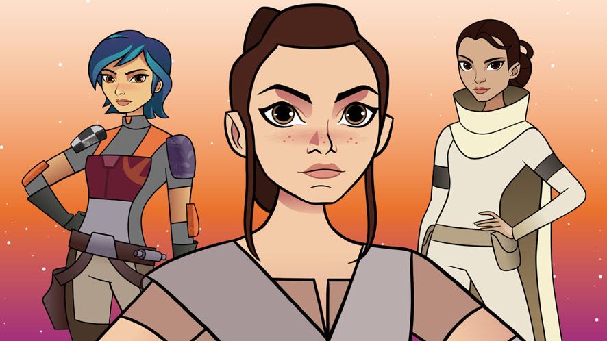 Star-Wars-Forces-of-Destiny-heroines-Rey-Sabine-and-Padme