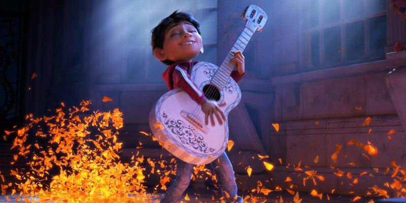 Miguel playing guitar in 'Coco'