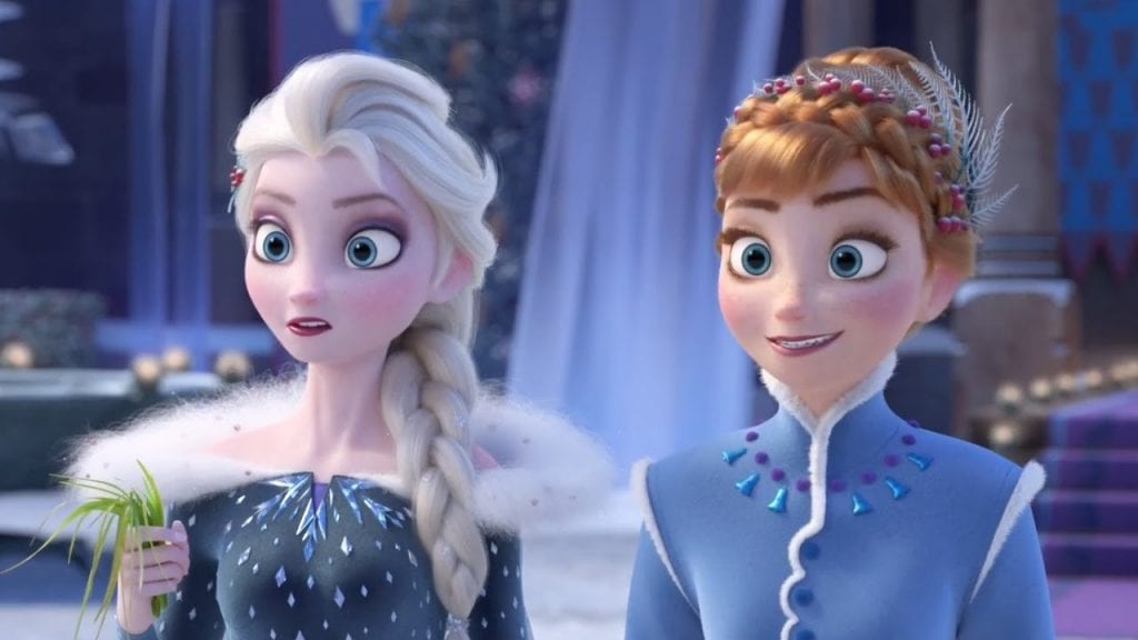 Elsa and Anna in Olaf's Frozen Adventure