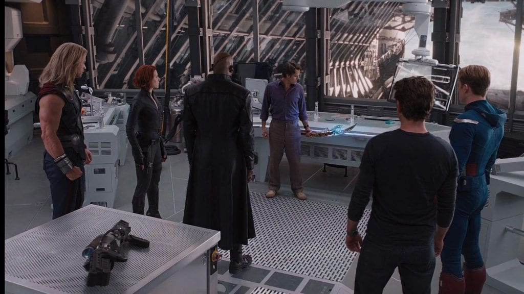 The Avengers aboard the Helicarrier