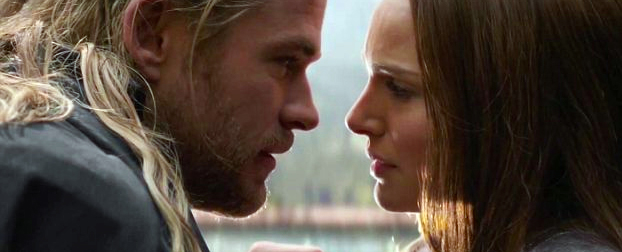 Thor and Jane Foster in Thor: The Dark World