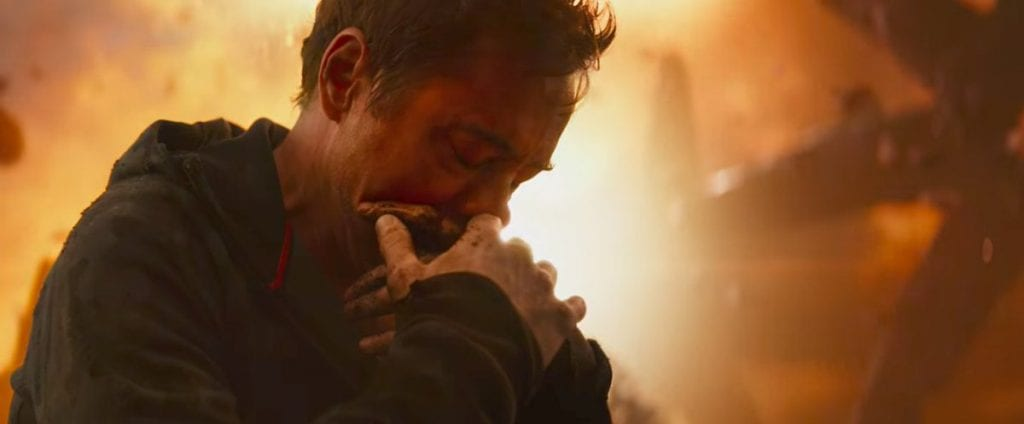 Tony mourns the loss of Peter in Avengers: Infinity War