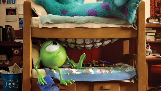 Monsters University Poster Bunk Bed Dorm Room