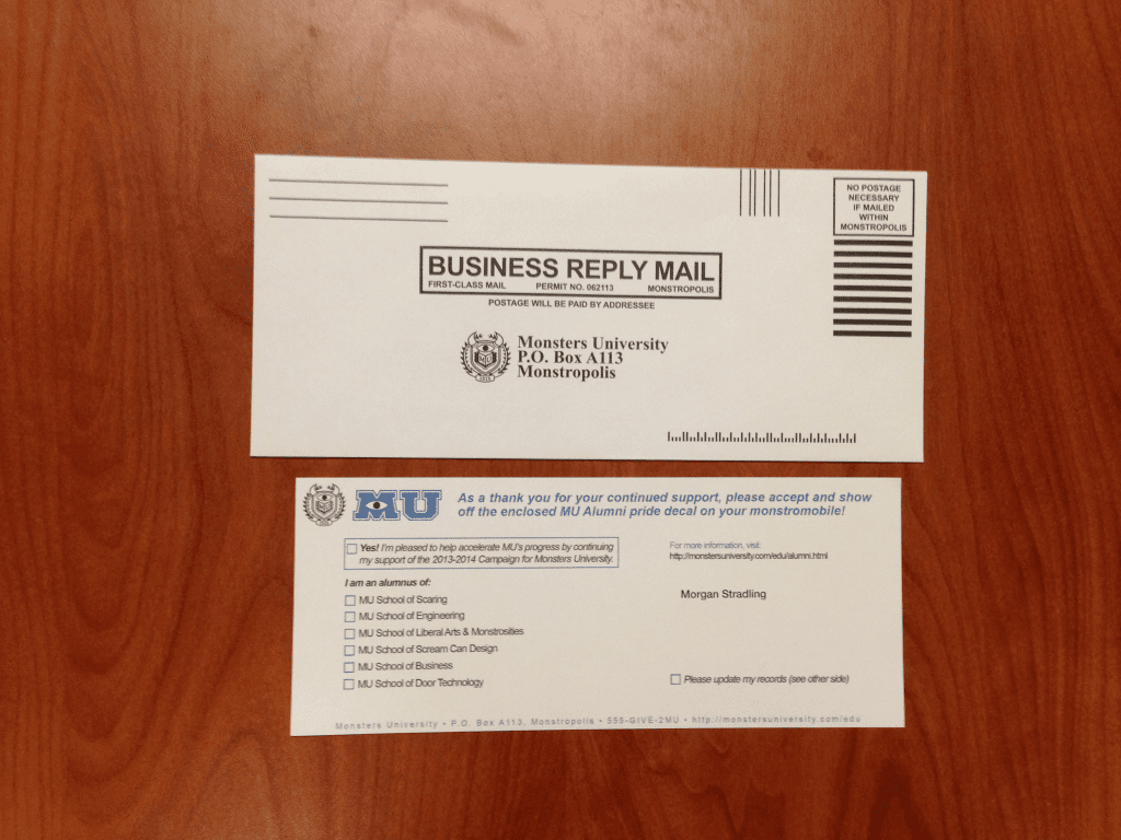 Monsters-University-Alumni-Return-Survey-Envelope-Press