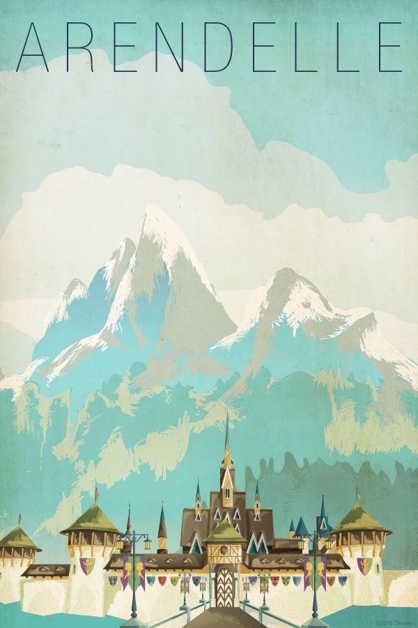 Frozen-Arendelle-vintage-travel-poster