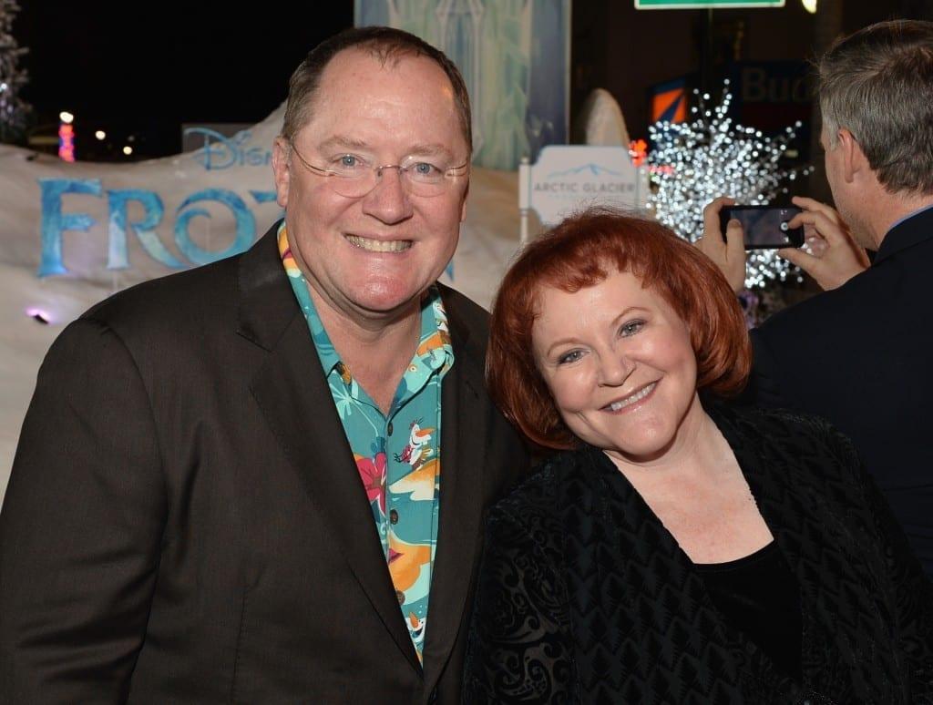 "The World Premiere Of Walt Disney Animation Studios' ""Frozen"" - Red Carpet - john lasseter Edie McClurg"