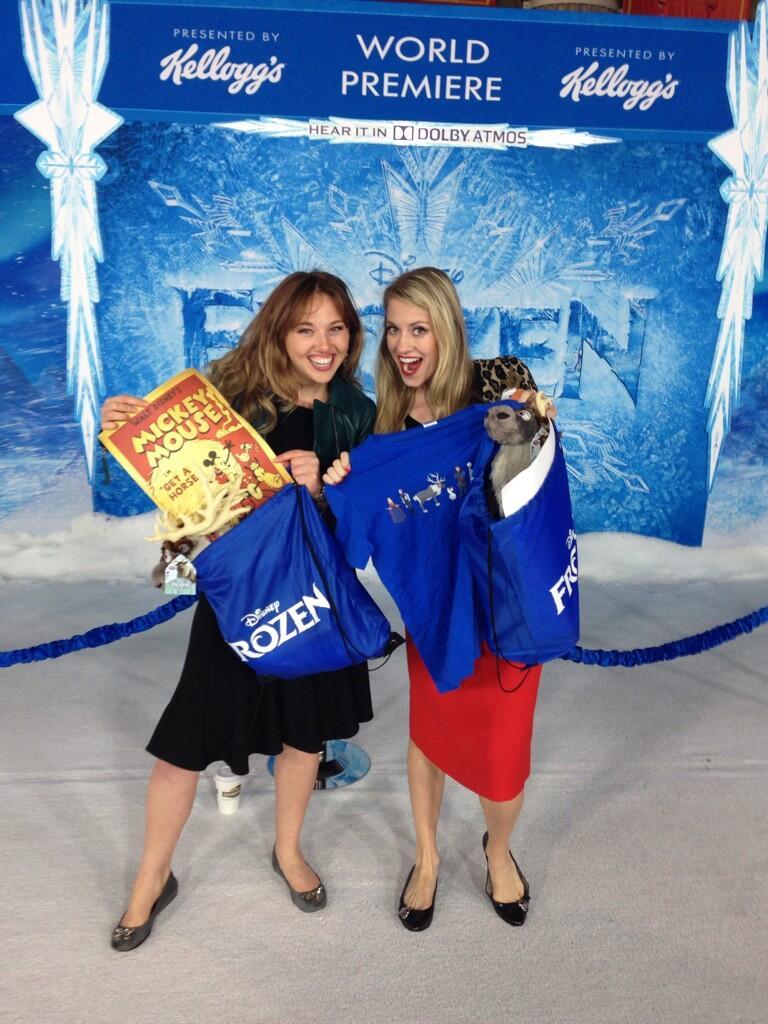 frozen world premiere swag goodie bag