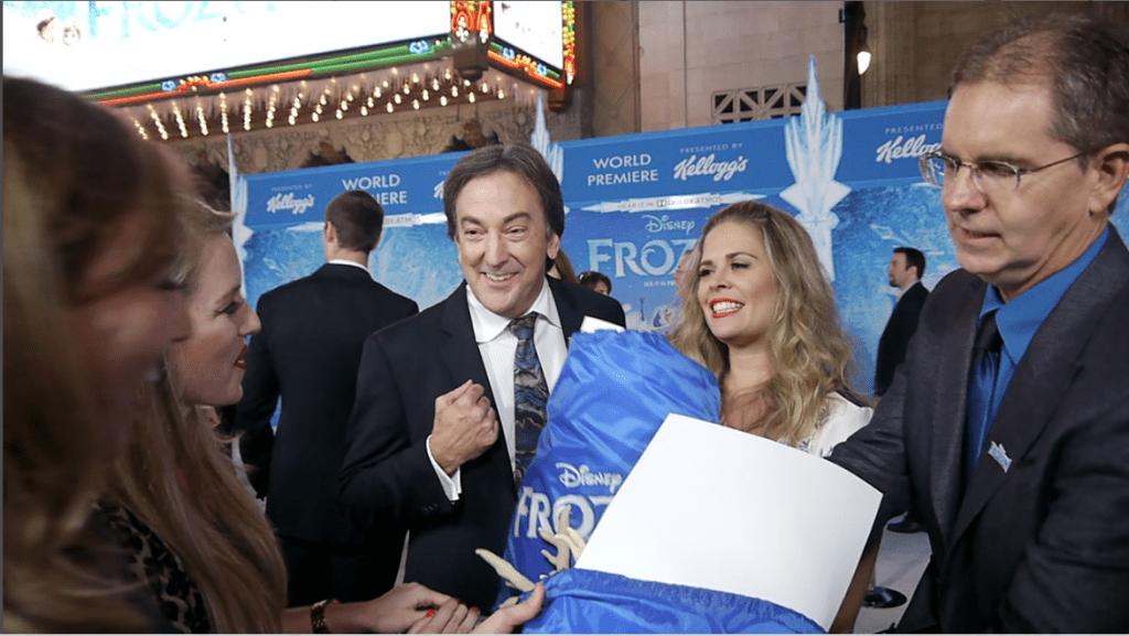 frozen world premiere rotoscopers goodie bag directors producer