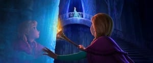 Anna finds Elsa in this still from Disney's FROZEN (Copyright Disney Enterprises, Inc.)
