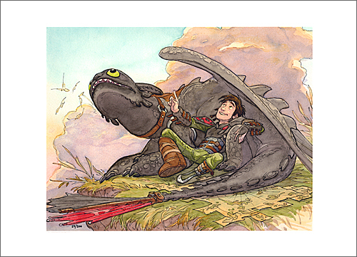 Official art from how to train your dragon 2 art show for sale now size500printsdeandebloisuntitledmain ccuart Choice Image