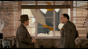 Dumbo had a cameo in a previous movie that blended live-action and animated in 'Who Framed Roger Rabbit'.