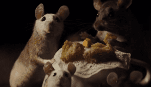 The mice from the live-action 'Cinderella' were realistic in design but displayed human traits. A possible technique they could use in the remake of 'Dumbo'.