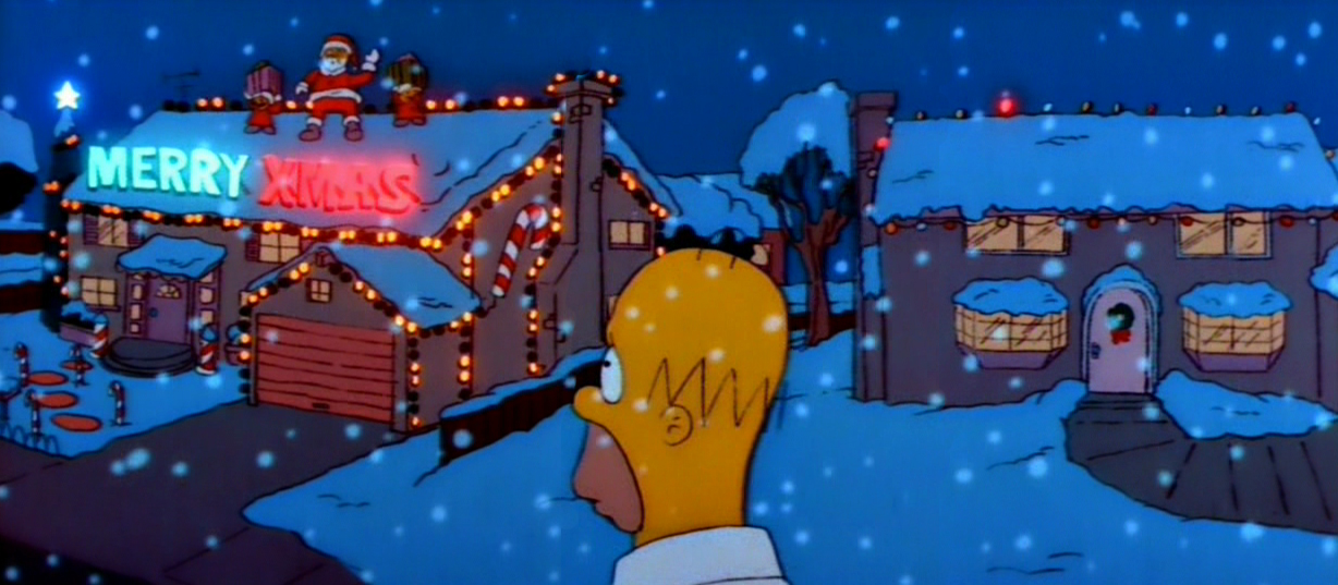 Christmas Simpsons.Rotoscopers 12 Days Of Christmas Simpsons Roasting On An