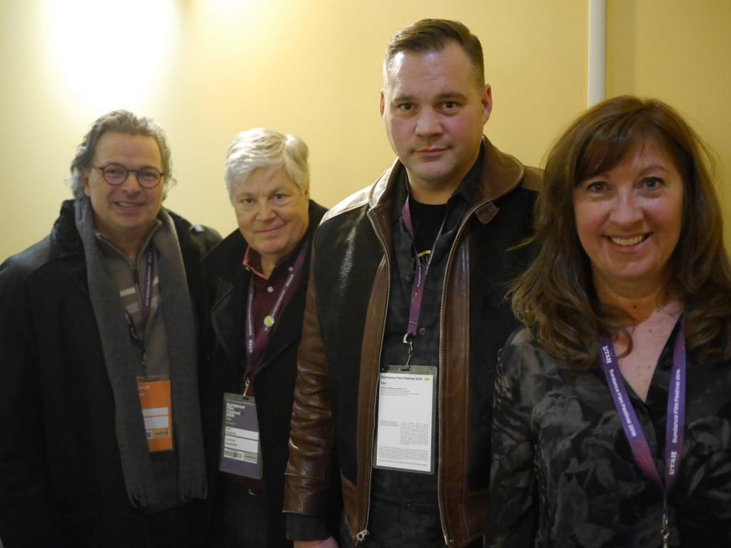 Francois Brisson (director), Paul Risacher Paul Risacher (executive producer/writer), Don Shepherd (voice of Chuck), and Marie-Claude Beauchamp (producer)
