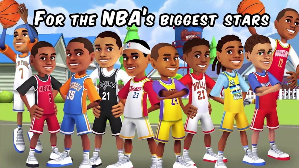 Here are some of the kid versions of NBA players that you could choose from in the most recent game in the franchise.