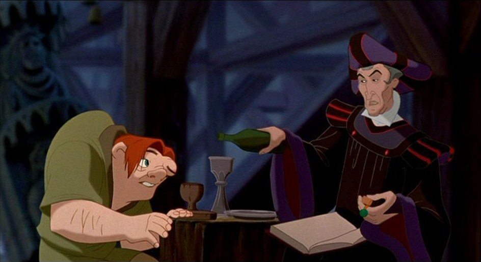 The Hunchback of Notre Dame Disney Quasimodo and Judge Frollo