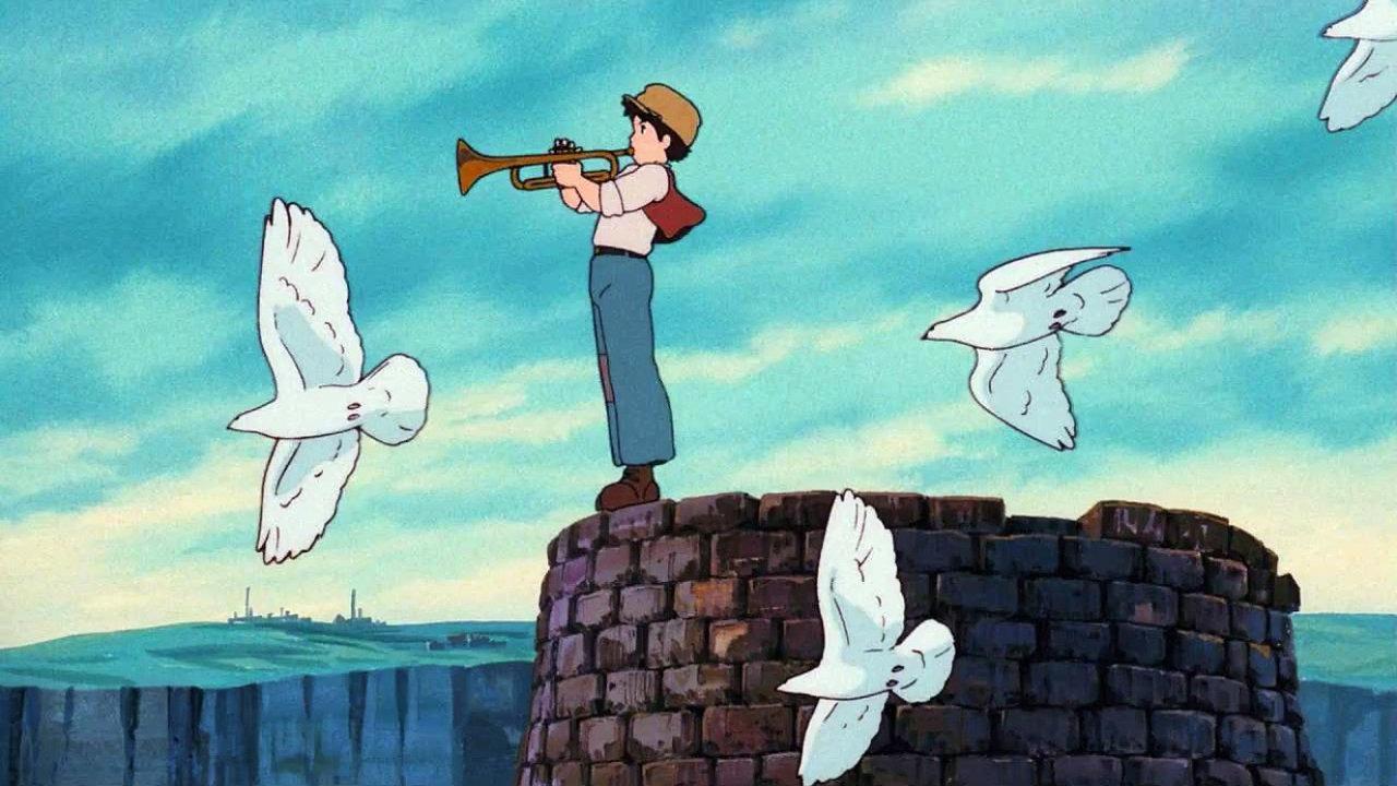 Studio Ghibli Hayao Miyazaki - Anime, Canvas, Castle in ...