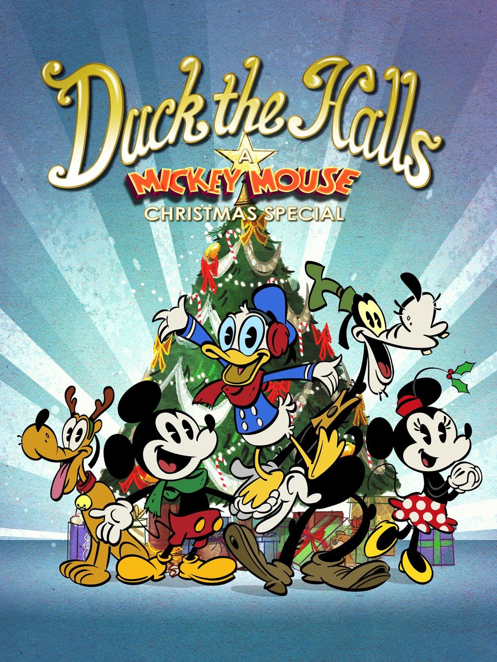 duck halls mickey mouse christmas special poster