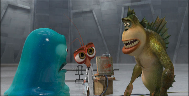 Monsters vs. Aliens - B.O.B., Dr. ****roach, and The Missing Link