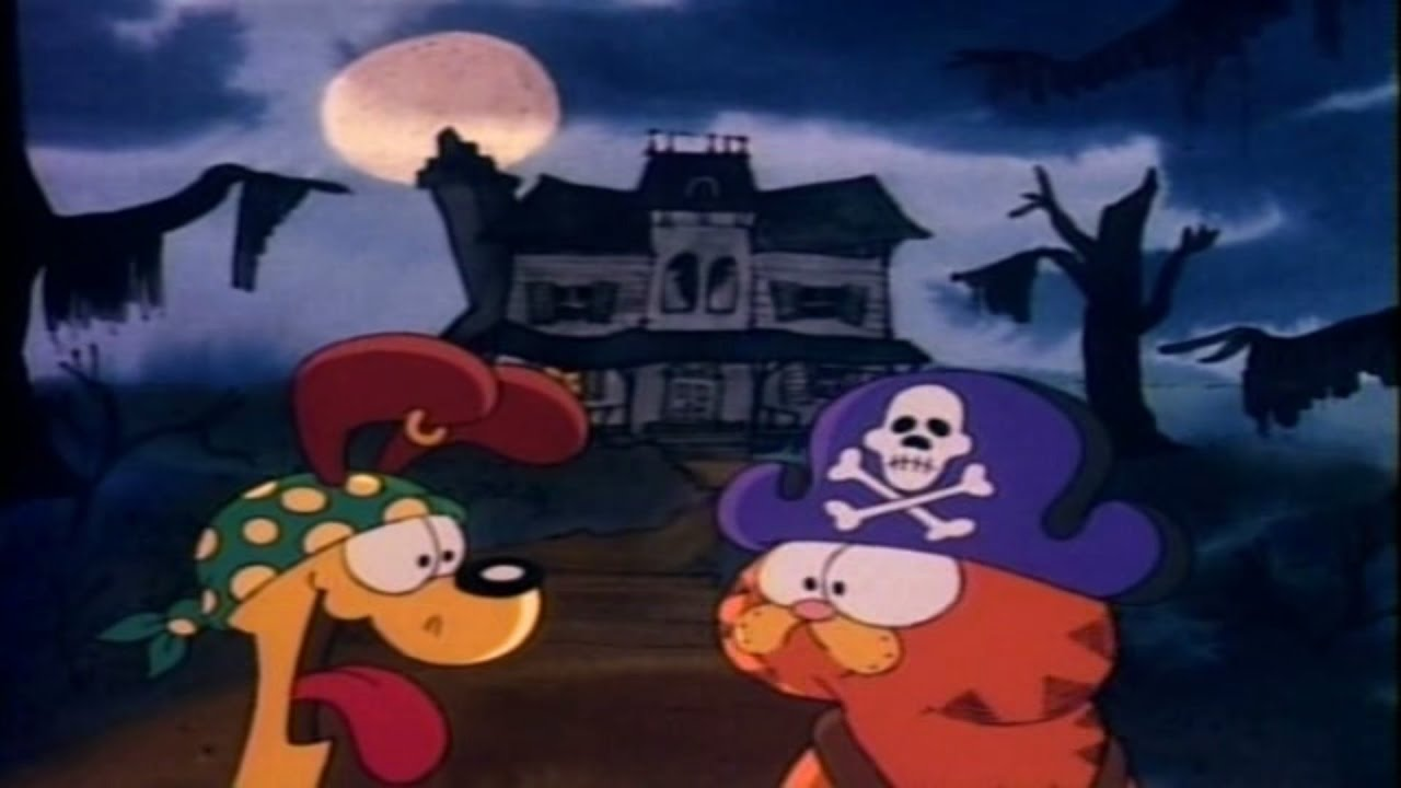 at the house garfield and odie encounter a strange old man who tells them a story of a pirate treasure buried on the island a hundred years ago