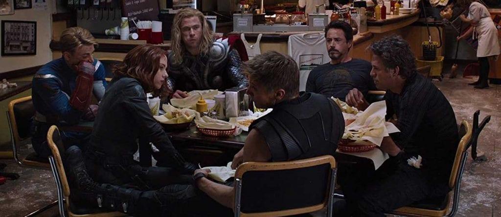Avengers eating shwarma