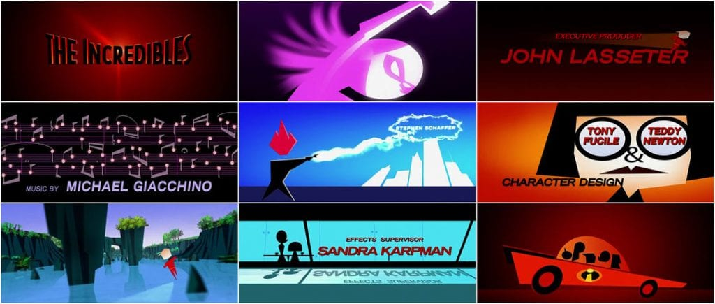The Incredibles end credits