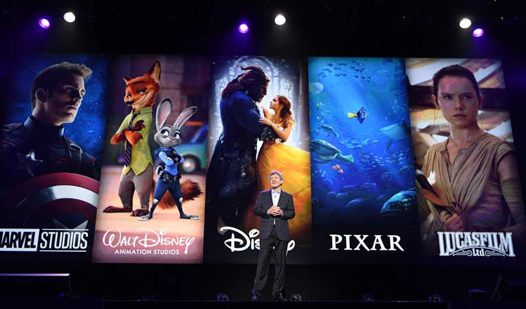 Brands represented by Disney's upcoming streaming service