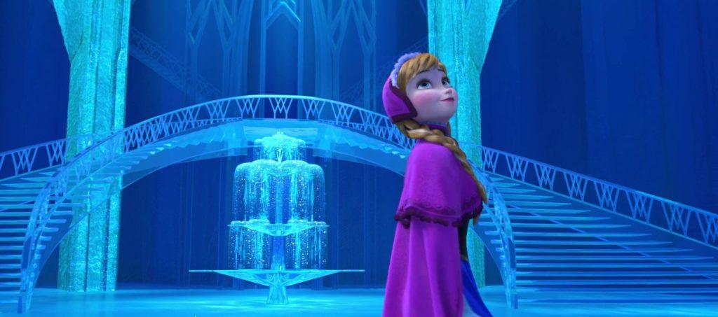 Anna explores Elsa's ice palace