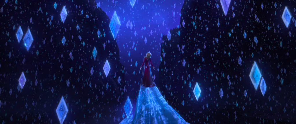 Elsa sings Into the Unknown