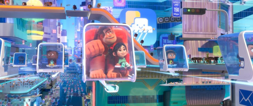 Ralph and Vanellope in the Internet
