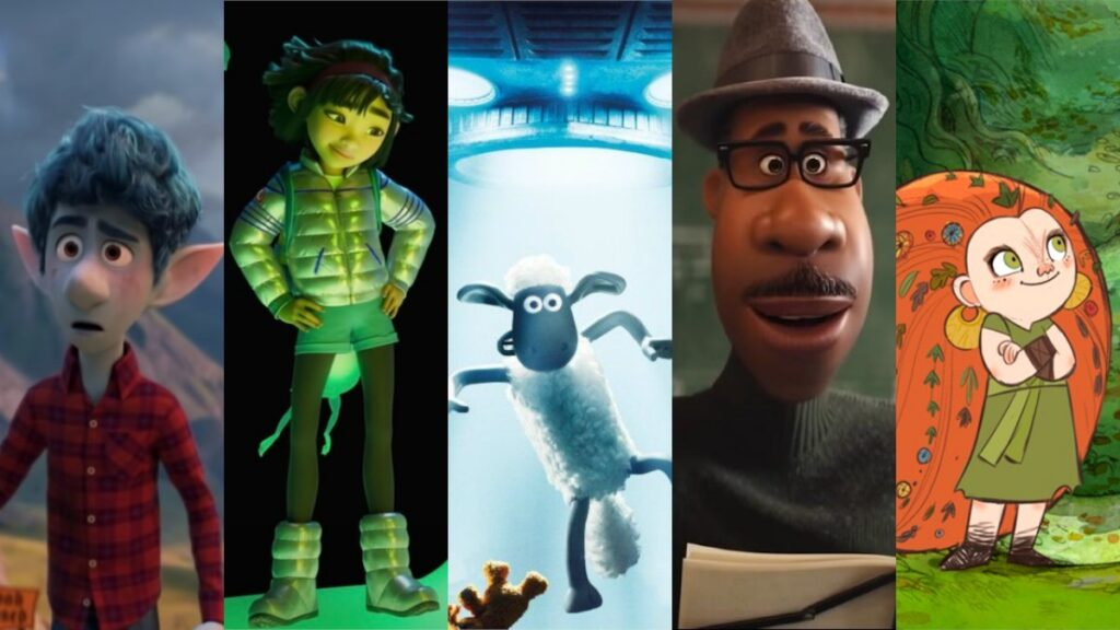 'Onward', 'Over the Moon', 'A Shaun the Sheep Movie: Farmageddon', 'Soul', and 'Wolfwalkers' are the nominees for Best Animated Feature.